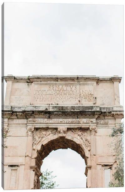 Arch, Rome, Italy Canvas Art Print