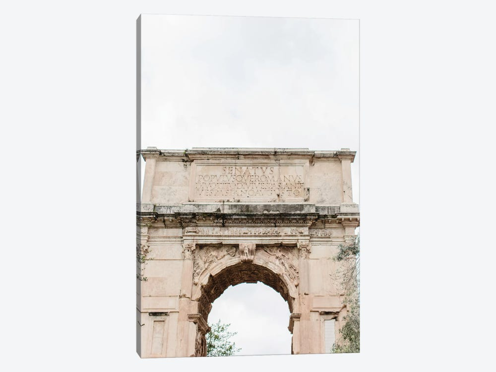 Arch, Rome, Italy by lovelylittlehomeco 1-piece Canvas Print
