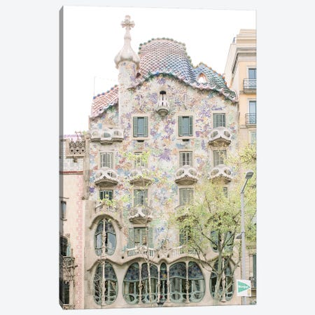 Gaudi Works, Casa Batlló, Barcelona, Spain Canvas Print #LLH64} by lovelylittlehomeco Art Print