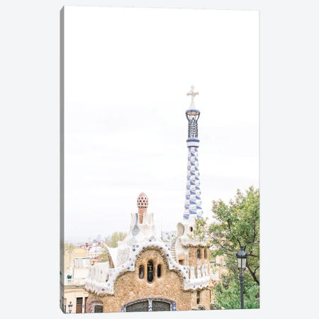 Gaudi Works, Park Güell, Barcelona, Spain Canvas Print #LLH65} by lovelylittlehomeco Art Print