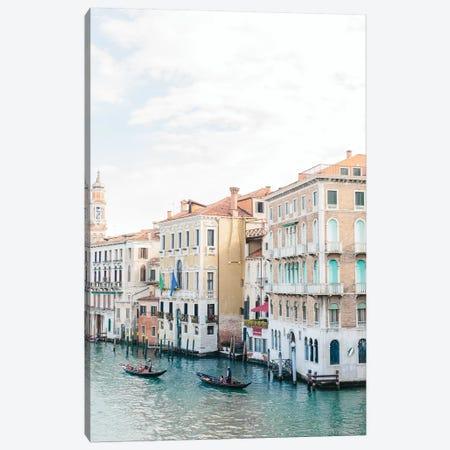 Gondolas Along Canal, Venice, Italy Canvas Print #LLH66} by lovelylittlehomeco Canvas Art Print