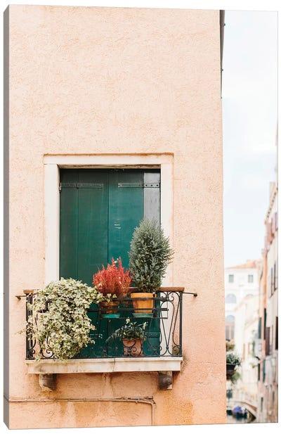 Green Shutters, Venice, Italy Canvas Art Print