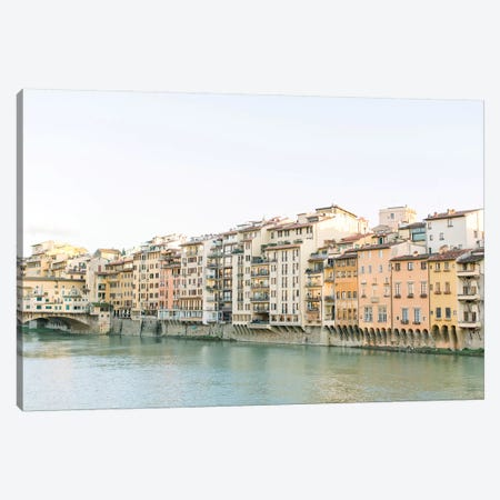Arno Riverfront, Florence, Italy Canvas Print #LLH6} by lovelylittlehomeco Canvas Wall Art