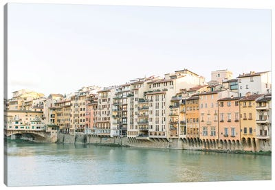 Arno Riverfront, Florence, Italy Canvas Art Print