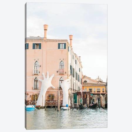 Hands On Building, Venice, Italy Canvas Print #LLH70} by lovelylittlehomeco Canvas Art Print