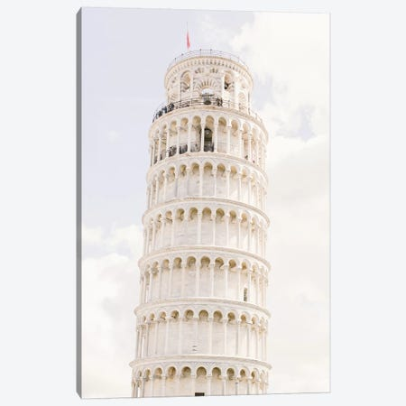 Leaning Tower Of Pisa II, Pisa, Italy Canvas Print #LLH75} by lovelylittlehomeco Canvas Wall Art