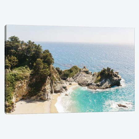 Mcway Falls Beach I, Big Sur, California Canvas Print #LLH76} by lovelylittlehomeco Canvas Art