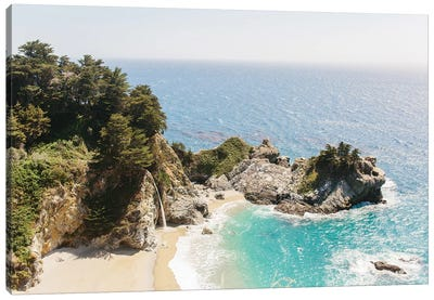 Mcway Falls Beach I, Big Sur, California Canvas Art Print