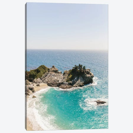 Mcway Falls Beach II, Big Sur, California Canvas Print #LLH77} by lovelylittlehomeco Canvas Wall Art