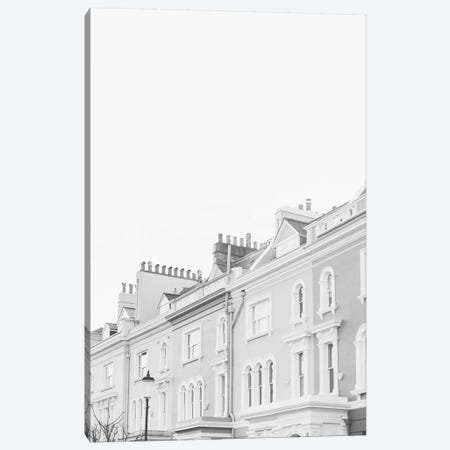 Notting Hill Rooftops, London, England In Black & White Canvas Print #LLH86} by lovelylittlehomeco Canvas Print