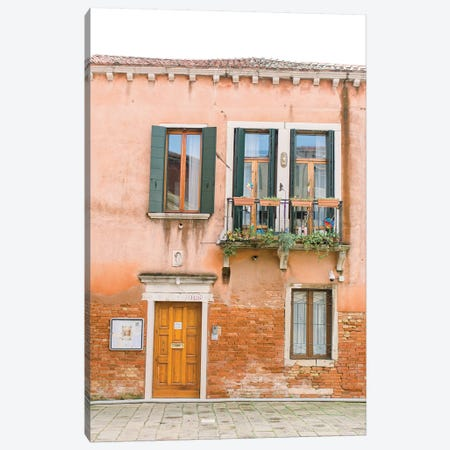 Pastal Building, Venice, Italy Canvas Print #LLH90} by lovelylittlehomeco Art Print