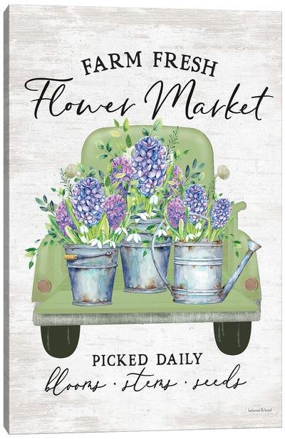 Flower Market Hyacinths Canvas Art Print