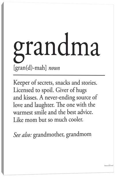 Grandma Definition Canvas Art Print