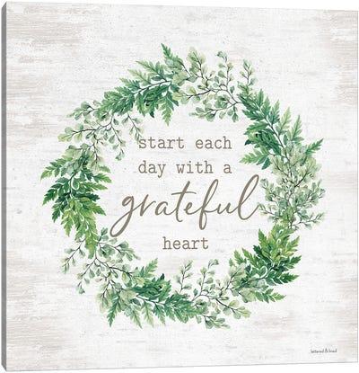 Grateful Heart Wreath Canvas Art Print