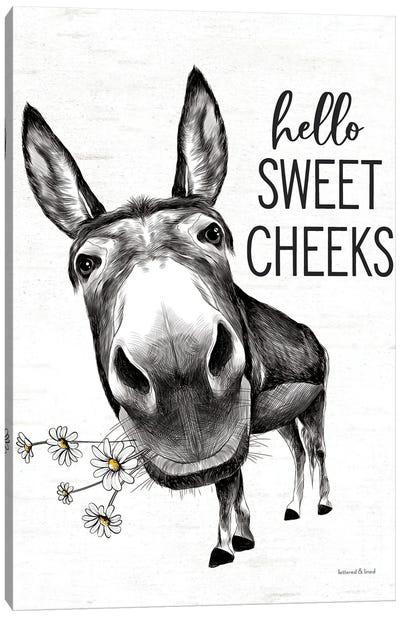 Hello Sweet Cheeks Donkey Canvas Art Print