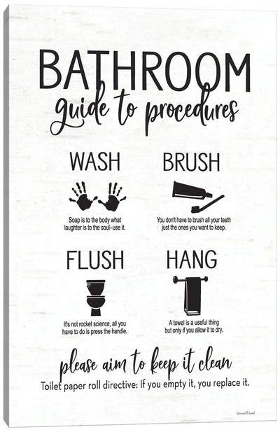 Bathroom Guide Canvas Art Print