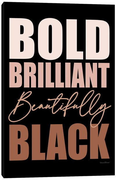 Beautifully Black Canvas Art Print