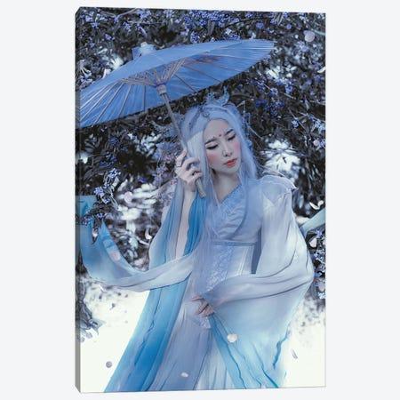 Blue Dragon Canvas Print #LLL12} by Lillian Liu Art Print