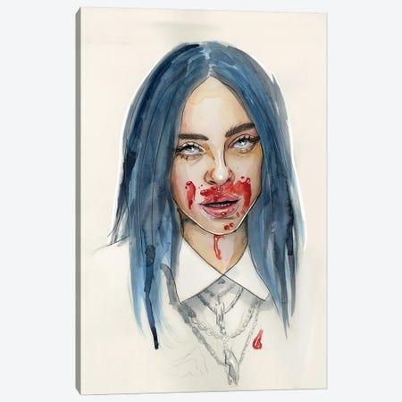 Billie Eilish VII Canvas Print #LLM10} by Sean Ellmore Canvas Wall Art