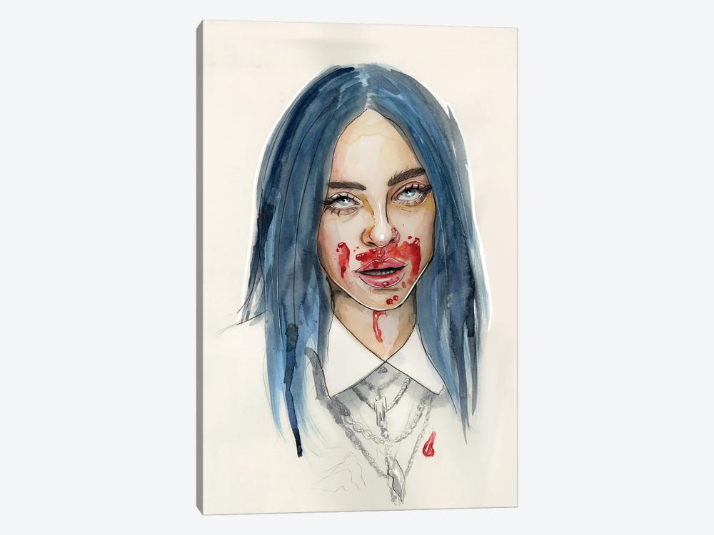 Billie Eilish VII by Sean Ellmore 1-piece Canvas Art Print