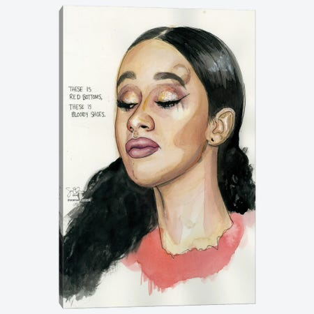Cardi B Canvas Print #LLM11} by Sean Ellmore Canvas Artwork