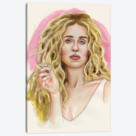 Carrie Bradshaw Canvas Print #LLM12} by Sean Ellmore Canvas Wall Art