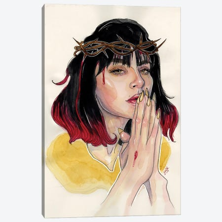 Charli XCX II Canvas Print #LLM14} by Sean Ellmore Canvas Art Print