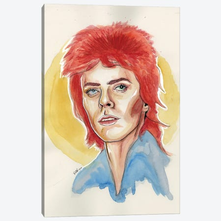 David Bowie Canvas Print #LLM15} by Sean Ellmore Canvas Print