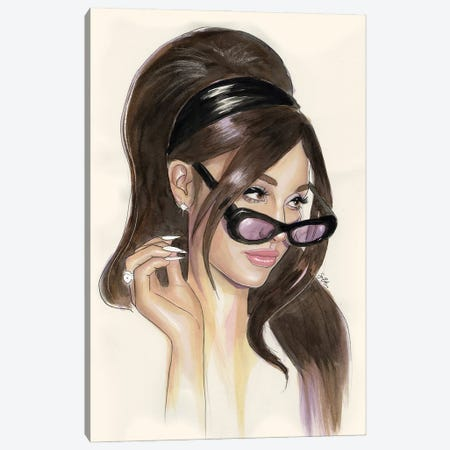 Ariana Grande Canvas Print #LLM1} by Sean Ellmore Canvas Artwork