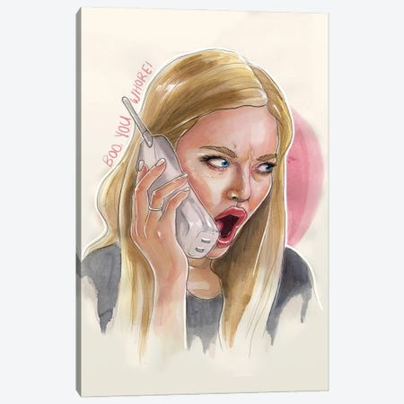 Karen - Mean Girls Canvas Print #LLM21} by Sean Ellmore Art Print