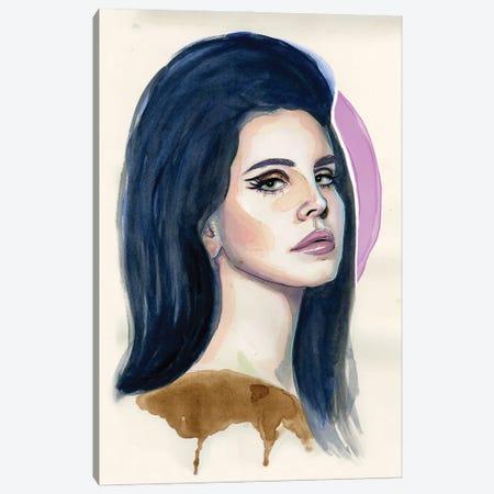 Lana Del Rey I Canvas Print #LLM22} by Sean Ellmore Art Print