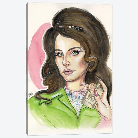 Lana Del Rey For Gucci Canvas Print #LLM23} by Sean Ellmore Canvas Print