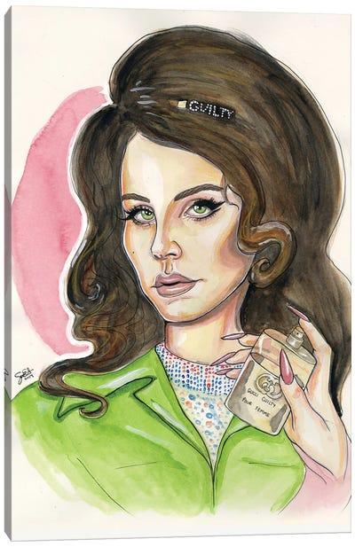 Lana Del Rey For Gucci Canvas Art Print