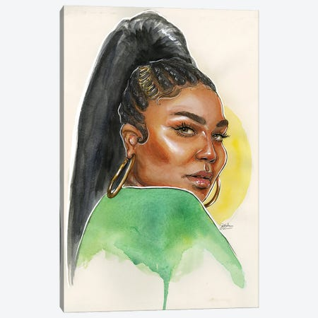 Lizzo Canvas Print #LLM26} by Sean Ellmore Canvas Art