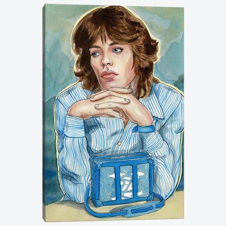 Mick Jagger Louis Vuitton Canvas Print #LLM28} by Sean Ellmore Canvas Print