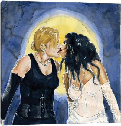 Like a Virgin II - Madonna And Christina Aguilera Canvas Art Print