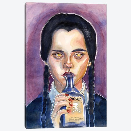 Wednesday Addams Canvas Print #LLM36} by Sean Ellmore Art Print
