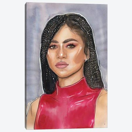 Zendaya Canvas Print #LLM37} by Sean Ellmore Art Print