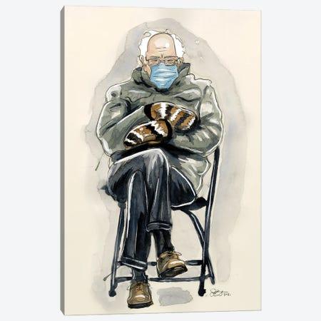 Unamused Bernie Sanders Canvas Print #LLM38} by Sean Ellmore Canvas Wall Art
