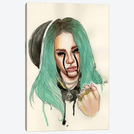 Billie Eilish I Canvas Print #LLM4} by Sean Ellmore Art Print