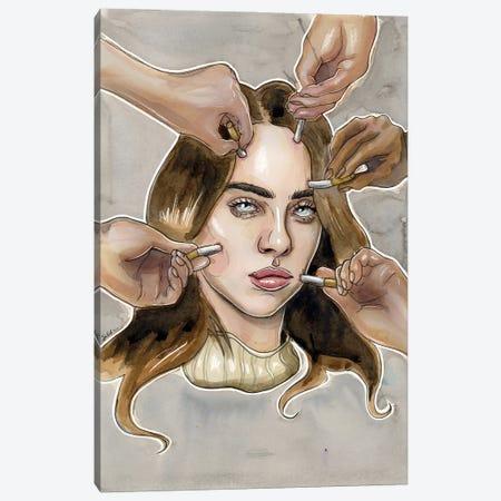 Billie Eilish VI Canvas Print #LLM9} by Sean Ellmore Canvas Wall Art