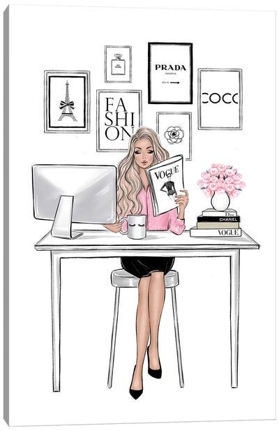 Girl Boss Blonde Canvas Art Print