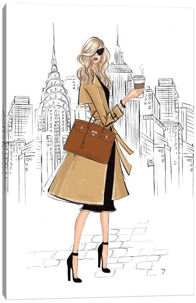 Outfit In Ny Blonde Girl Canvas Art Print