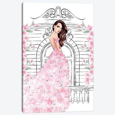 Pink Rose Dress Canvas Print #LLN16} by LaLana Arts Canvas Art