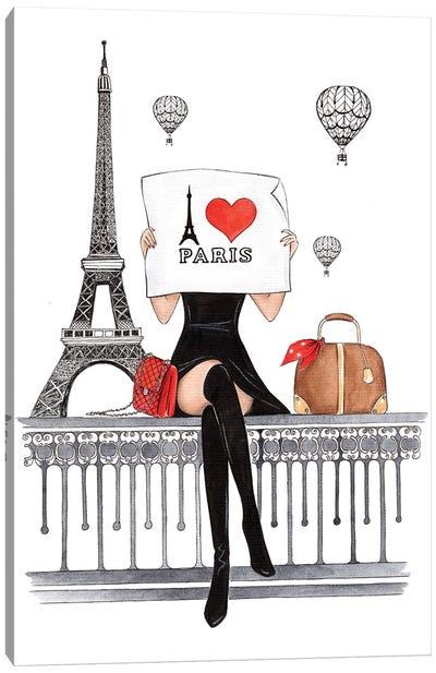 I Love Paris Canvas Art Print