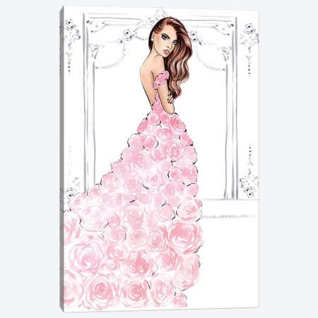 Rose Dress Natural Canvas Print #LLN26} by LaLana Arts Canvas Print