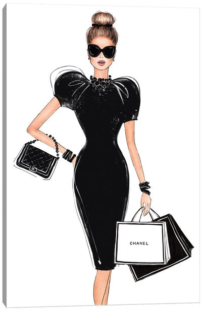 Shopping In Style Canvas Art Print