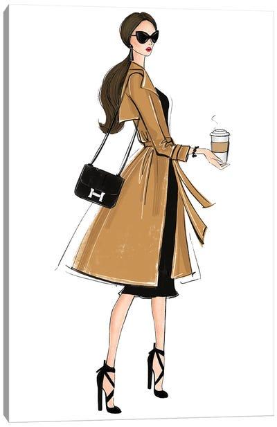 Fall Outfit Brunette Girl Canvas Art Print