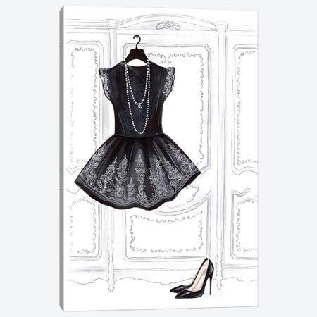 Black Dress Canvas Print #LLN65} by LaLana Arts Canvas Art Print