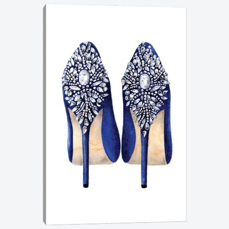 Blue Shoes Canvas Print #LLN68} by LaLana Arts Canvas Wall Art